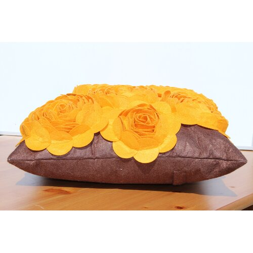 3-D Effect Felt Accent Pillow