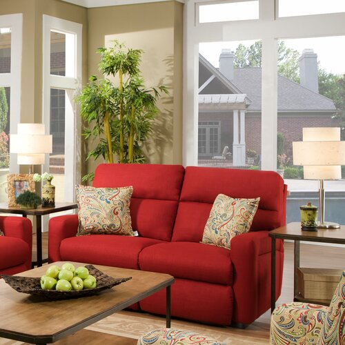 Savannah Solarium Track Arm Reclining Loveseat