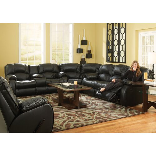 Southern Motion Continental'' Leather Reclining Sofa