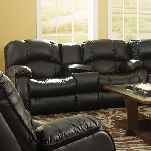 Continental Leather Reclining Sofa