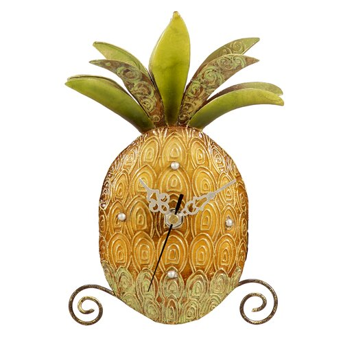 Capiz Shell Desk Pineapple Clock