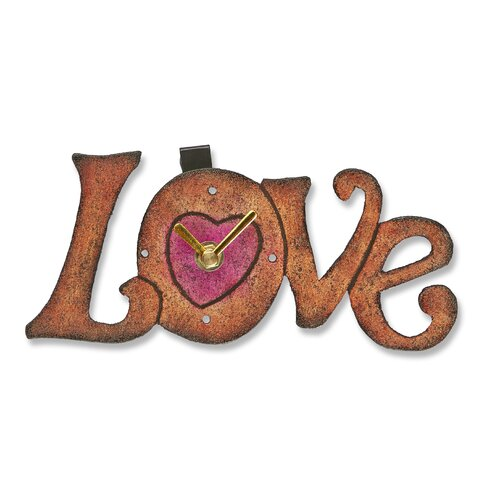 Love Wood Magnet Wall Clock