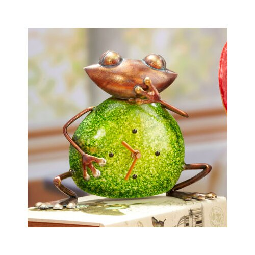Metal Stone Colored Frog Clock