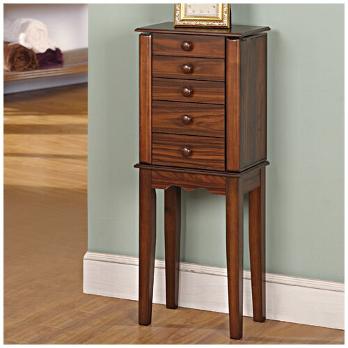 Prolific 4 Drawer Jewelry Armoire with Mirror