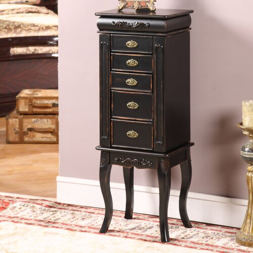 Wildon Home ® Morrel 6 Drawer Jewelry Armoire with Mirror