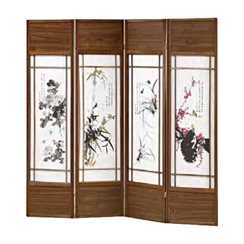 "Wildon Home ® 70"" x 68"" Shoji 4 Panel Room Divider"