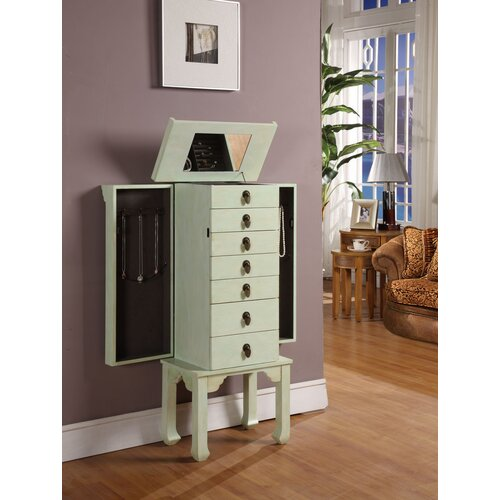 Wildon Home ® Ningbo Way 6 Drawer Jewelry Armoire with Mirror