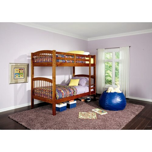 Wildon Home ® Diamond Lake Twin over Twin Bunk Bed with Built-In Ladder