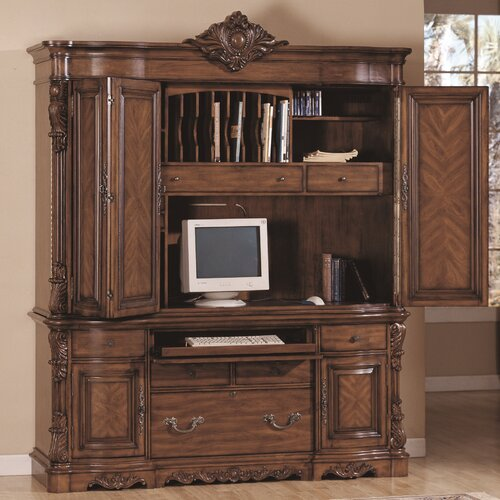 Wildon Home ® Angelina Credenza Desk and Hutch