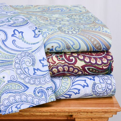 Wildon Home ® Lindsey Paisley 300 Thread-Count Sheet Set