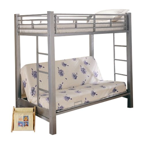 Wildon Home ® Eddyville Twin over Full Bunk Bed with Built-In Ladder