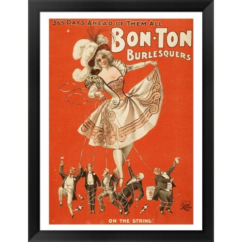 Bon-Ton Burlesquers Framed Vintage Advertisement