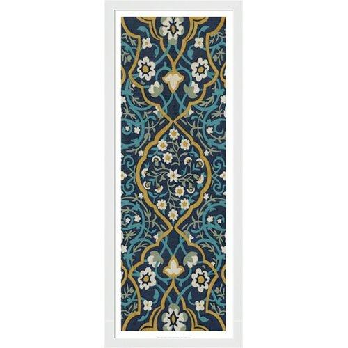 Cobalt Tapestry II by Chariklia Zarris Framed Graphic Art