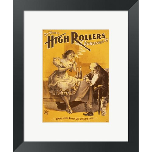 Dining a High Roller Girl After the Show Framed Vintage Advertisement