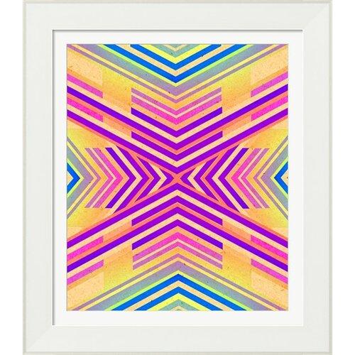 Neon Boho Tribal Geometric by Evie Alessandria Framed Graphic Art