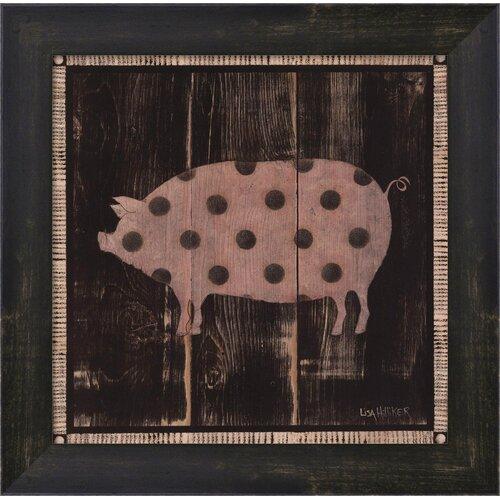 Polka Pig IV by Lisa Hilliker Framed Painting Print