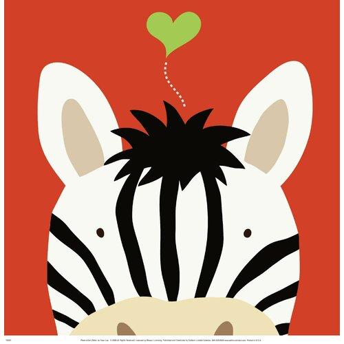 Peek-A-Boo Zebra by Yuko Lau Graphic Art