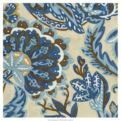 'Custom Indigo Tapestry I' by Chariklia Zarris Painting Print
