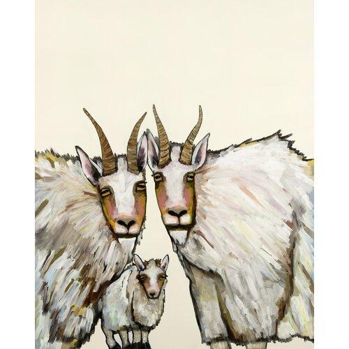 'Goats' by Eli Haplin Painting Print