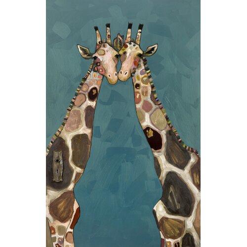 'Giraffes' by Eli Halpin Painting Print