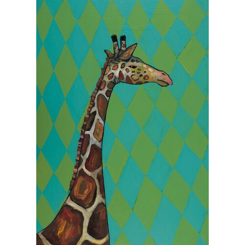 'Giraffe with Diamonds' by Eli Halpin Painting Print