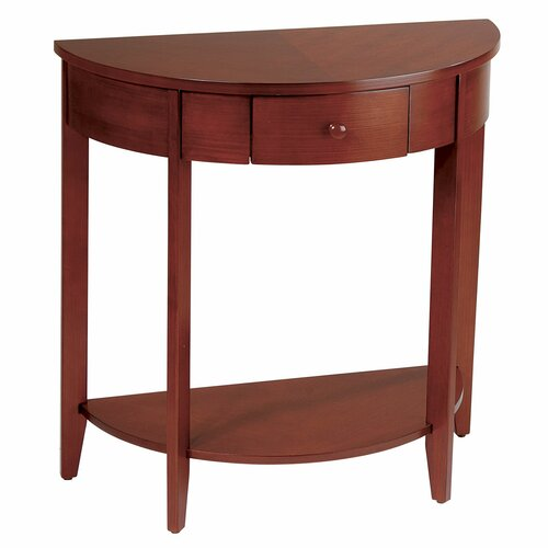 OSP Designs Madison Half Moon Console Table