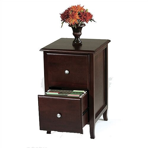 OSP Designs Merlot 2-Drawer File Cabinet