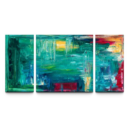 Bold and Beautiful Triptych 3 Piece Painting Print on Canvas Set