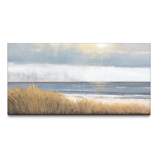 Sea Breeze Textured Painting Print on Canvas