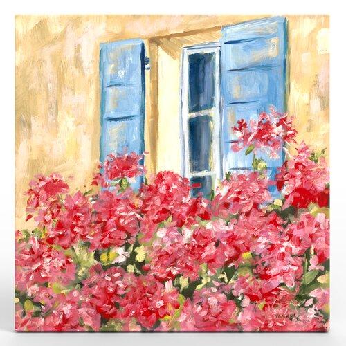 Paris Window Painting Print on Canvas