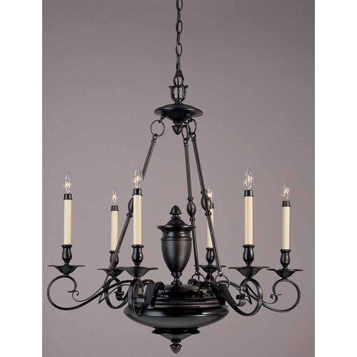 Cambridge 6 Light Candle Chandelier