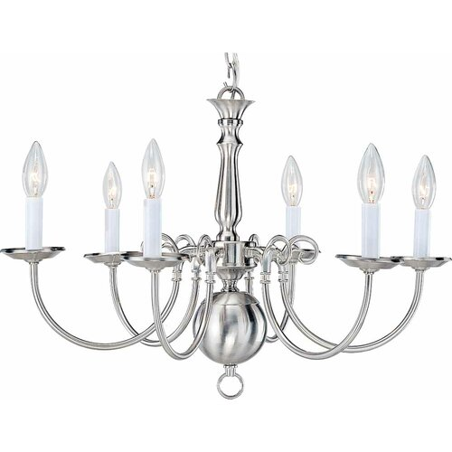 6 Light Candle Chandelier