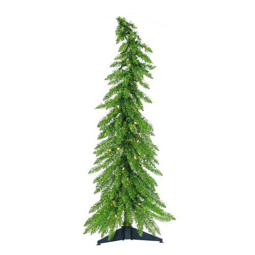 4 Whimsical Curvy Laser Tinsel Christmas Tree With Clear