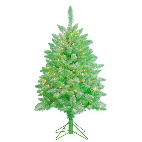 4 39 lightly flocked lime green keystone pine christmas tree with 200 clear lights with stand. Black Bedroom Furniture Sets. Home Design Ideas