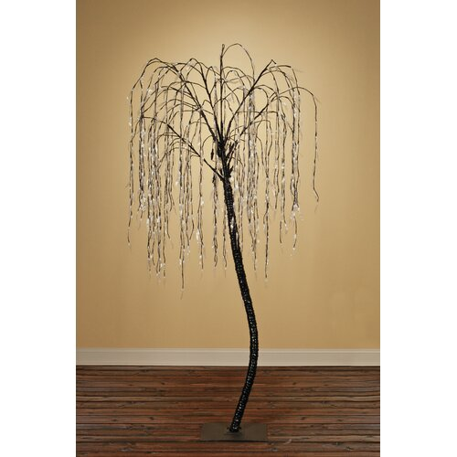 8' Willow Artificial Christmas Tree with 640 Cool White LED Lights