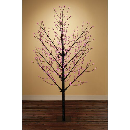 8' Blossom Artificial Christmas Tree with 567 Fuschia LED Lights