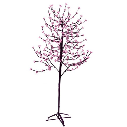 6.5' Blossom Artificial Christmas Tree with 240 Fuschia LED Lights
