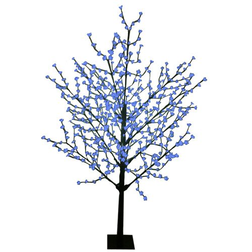 8' Blossom Artificial Christmas Tree with 567 Blue LED Lights