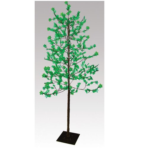 7.5' Green Sugar Maple Artificial Christmas Tree with 512 LED Lights