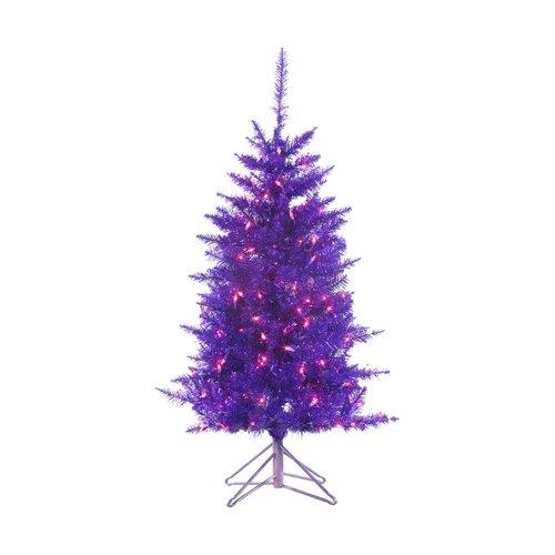 sterling inc 4 39 purple tiffany tinsel christmas tree with 150 purple