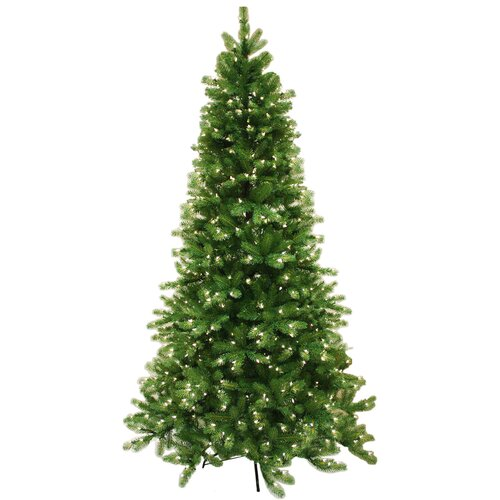 Sterling Inc. 9' Natural Cut Vienna Pine Christmas Tree with 600 Clear Lights with Stand