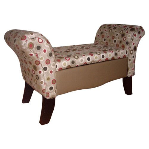 Upholstered Storage Settee