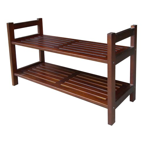 ORE Furniture 2 Tier Stackable Shoe Rack
