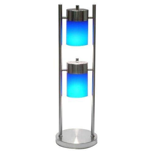 "ORE Furniture 25"" H Crisp and Modern 2 Light Adjustable Table Lamp"