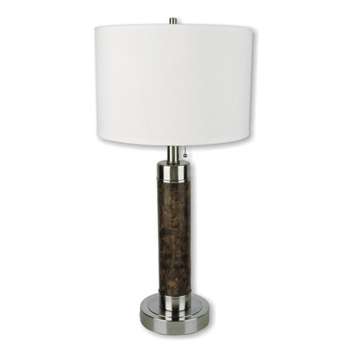 "ORE Furniture Cylinder 26"" H Table Lamp with Drum Shade"