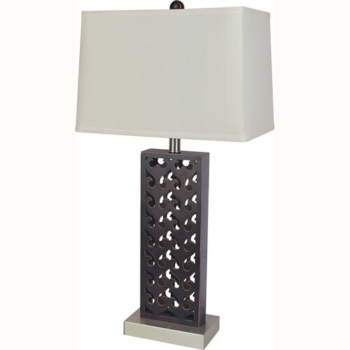 "ORE Furniture Wood 29.5"" H Table Lamp with Rectangle Shade"
