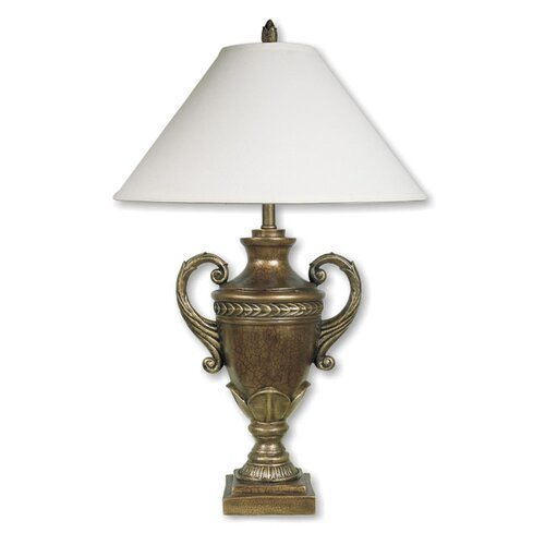 "ORE Furniture Trophy Cup 32"" H Table Lamp with Empire Shade"