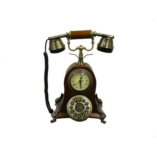 ORE Furniture Classic Quartz Roman Numeral Clock Class Telephone