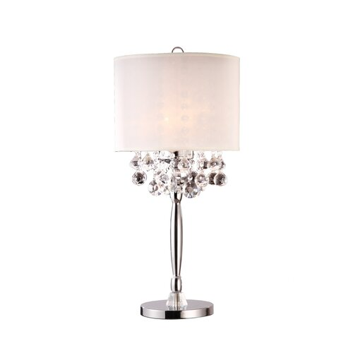 ORE Furniture Crystal 3 Light Table Lamp