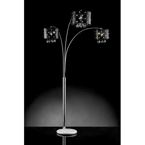 ORE Furniture Star Crystal 3 Light Arch Floor Lamp